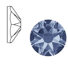 Swarovski Elements SS34 flatback Xirius Rose denim blue 52131