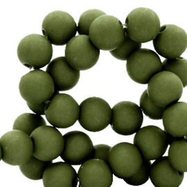 Acrylkraal 8mm rond  dusty olive 69683
