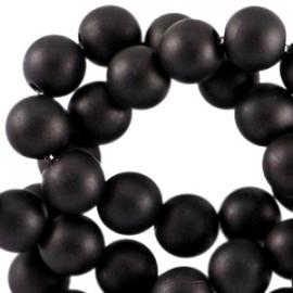 Acrylkraal 6mm rond mat zwart 33529