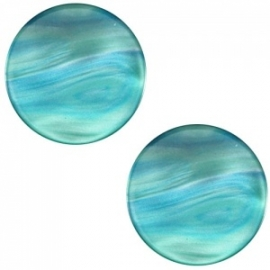 Cabochon Polaris plat 12mm perseo teal blue 30564