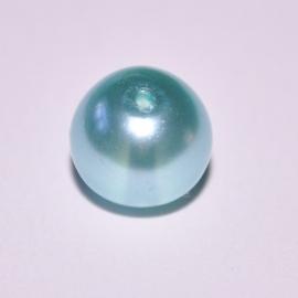 Glasparel 14mm rond ijsblauw