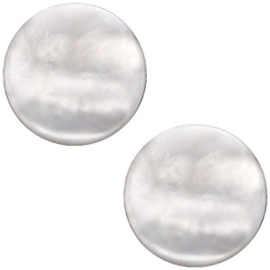 Cabochon Polaris plat 12mm perseo matt white grey 31938