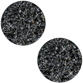 Cabochon Polaris plat 20mm goldstein black 40143
