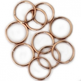 DQ Ringetje 8x1mm 20 stuks roségoud 6948