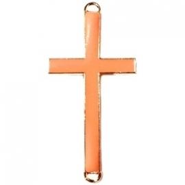 Kruis tussenzetsel 37x17mm oranje-goud