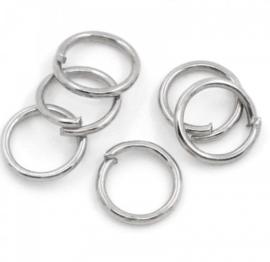 RVS ringetje 6x0,7mm, 25 stuks