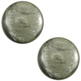 Cabochon Polaris 7mm jais agave green 27483
