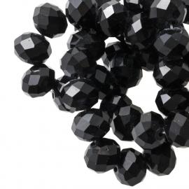Facet 4x3mm rondel Black G201