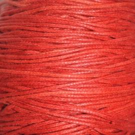 Waxkoord rood 1mm per meter