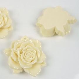 Acryl bloemhanger 48x15mm cremé