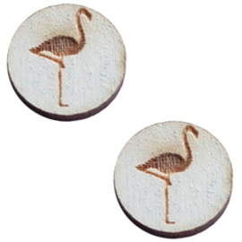 Cabochon plat 12mm hout grey flamingo 42047