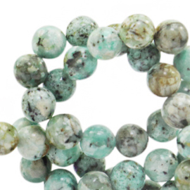 Jade marble turquoise 8mm 73854