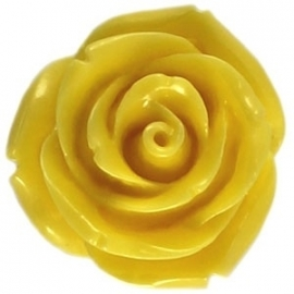 Roosje 11x8mm geel