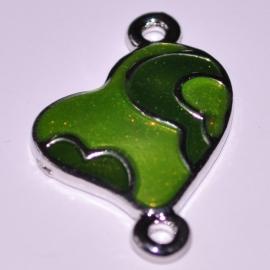 Tussenzetsel hartje 29x20mm groen