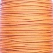 Waxkoord oranje 1mm per meter