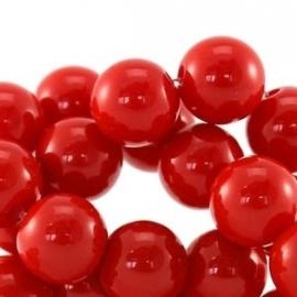 Acrylkraal 10mm rond glans rood