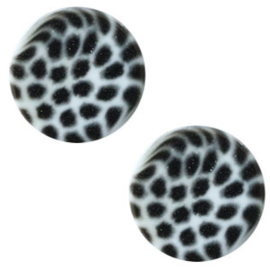 Cabochon Polaris plat 12mm leopard powder blue 43789