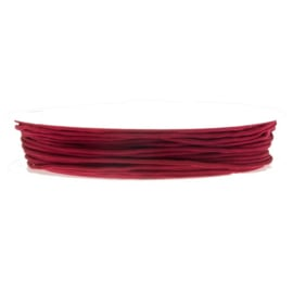 Satijnkoord red rose 0,5mm per meter BA014