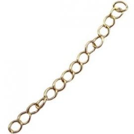 DQ verlengketting 10cm gold plated 19035