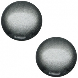 Cabochon Polaris 12mm soft tone shiny silver black 33319