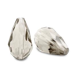 Top facet druppel 12x18mm Black diamond 70271