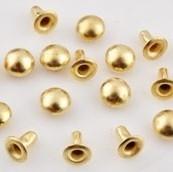Studs rond 6mm goudkleur 10 stuks d14247