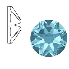 Swarovski Elements SS34 flatback Xirius Rose aquamarine blue 52134