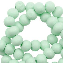 Houten kralen 8mm meadow green 60654 10 stuks