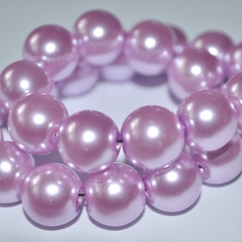Glasparel 12mm rond licht magenta