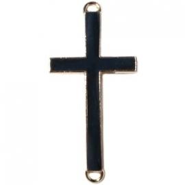 Kruis tussenzetsel 37x17mm zwart-goud