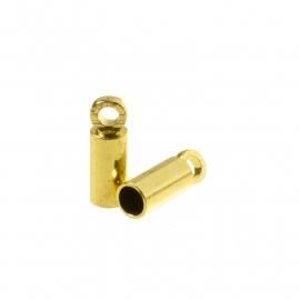 DQ eindkapje voor 2mm metaal goudkleur Pp731