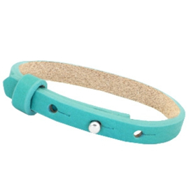 Cuoio armband 8mm leer flash turquoise green 35330