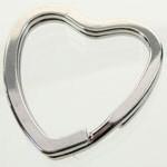 Sleutelhanger 31x31mm hartvorm metaal