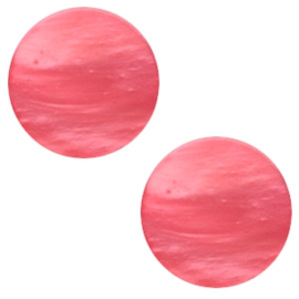 Cabochon Polaris plat 7mm mosso shiny peachy coral pink 41775