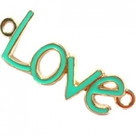 Love tussenzetsel 40x16mm bright groen-goud