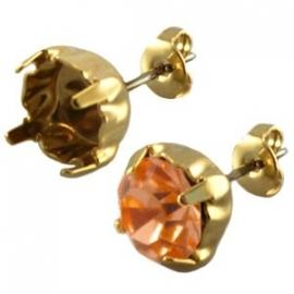 DQ oorsteker voor SS39 goud nikkelvrij, per paar 19030