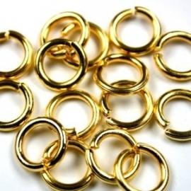 Ringetje 4mm, 0,7mm dik 25 stuks goud