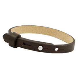 Cuoio armband 8mm leer dark sepia brown 46948