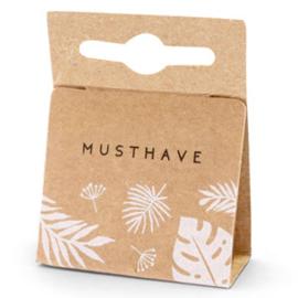 """Sieraden kaartje """"musthave"""" leaves brown 62164"""