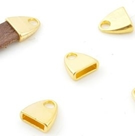 Eindkapje voor 10x2,5mm goudkleur
