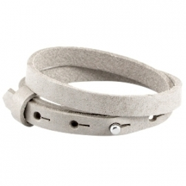 Cuoio armband dubbel 8mm leer light browngrey 31240