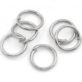 Ringetje 6mm, 0,7mm dik 25 stuks antiekzilver