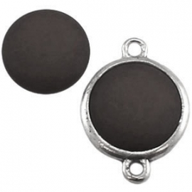 Cabochon Polaris 12mm matt silver night 11667