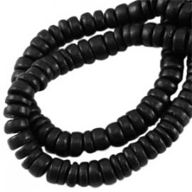 Kokos disc 8mm zwart 25510