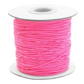 Elastisch draad 0,8mm hot pink 1 meter 56834