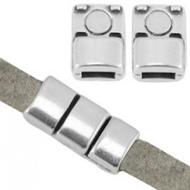 DQ magneetslot voor 5x2mm antiekzilver nikkelvrij 26891