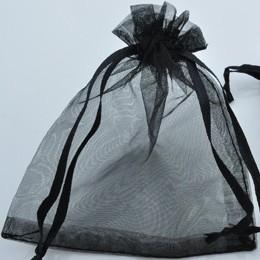 Cadeautasje 12x9cm zwart