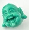 Boeddha kraal 20x19mm blauwgroen