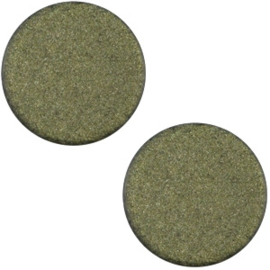 Cabochon Polaris plat 12mm soft tone matt army green 33377
