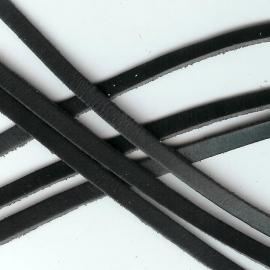 DQ Leer plat 6mm trend zwart mf17322